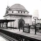 Historic Picture, Canal Street elevated train station