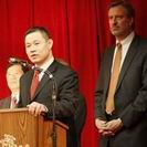 February 2010, NYC Comptroller John Liu and Public Advocate Bill de Blasio attend CCBA's Lunar New Year Celebration.